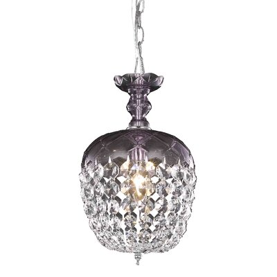 Chester-le-Street 1-Light Crystal Pendant Finish: Purple