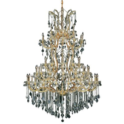 Regina Traditional 61-Light Crystal Chandelier Finish / Crystal Color / Crystal Trim: Chrome / Golden Teak (Smoky) / Royal Cut
