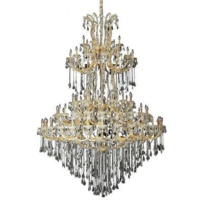 Regina 85-Light Crystal Chandelier Finish / Crystal Color / Crystal Trim: Chrome / Golden Teak (Smoky) / Strass Swarovski