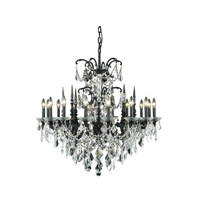 Cherie 16-Light Traditional Crystal Chandelier Crystal Color / Crystal Trim: Golden Teak (Smoky) / Spectra Swarovski
