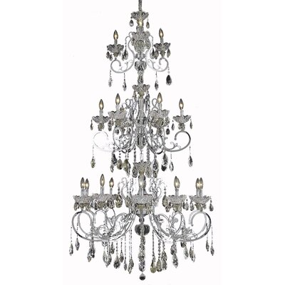 Tranquil 4-Light Flush Mount Crystal Color / Crystal Trim: Crystal (Clear) / Strass Swarovski