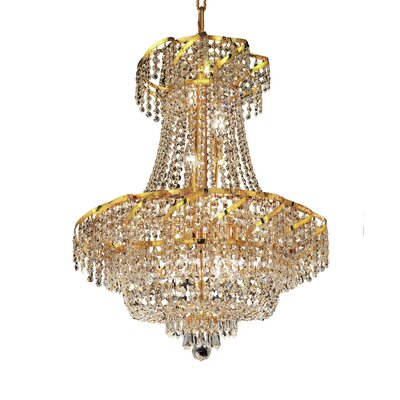 Antione 11-Light Empire Chandelier Finish: Gold, Crystal Trim: Royal Cut