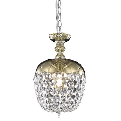Chester-le-Street 1-Light Crystal Pendant Finish: Golden Teak