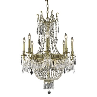 Ursula 12-Light Crystal Chandelier Color: French Gold, Crystal Trim: Elegant Cut