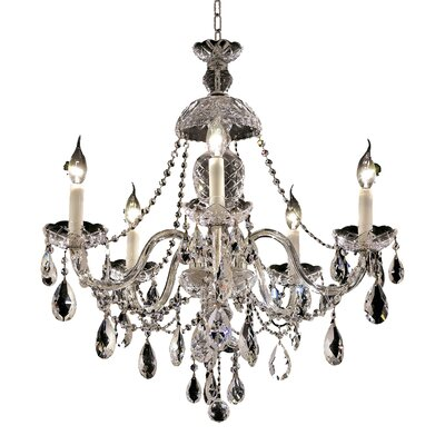 Alexandria 5-Light Crystal Chandelier Finish / Crystal Color / Crystal Trim: Gold / Crystal (Clear) / Elegant Cut