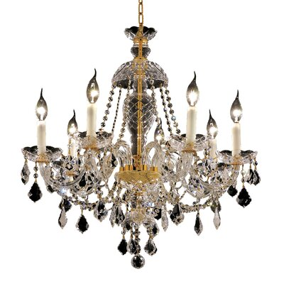 Alexandria 7-Light Crystal Chandelier Finish: Gold, Crystal Trim: Elegant Cut