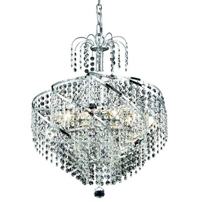 Landman 8-Light Crystal Chandelier Finish: Chrome, Crystal Grade: Swarovski Strass