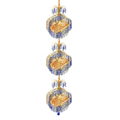 Mathilde 9-Light Crystal Chandelier Finish: Gold, Crystal Trim: Royal Cut