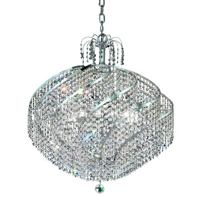 Landman 15-Light Crystal Chandelier Finish: Chrome, Crystal Grade: Egyptian