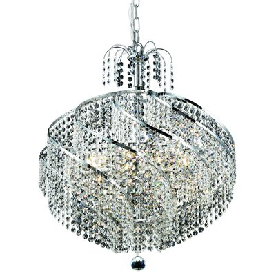 Landgraf 10-Light Crystal Chandelier Finish: Chrome, Crystal Grade: Elegant-Cut