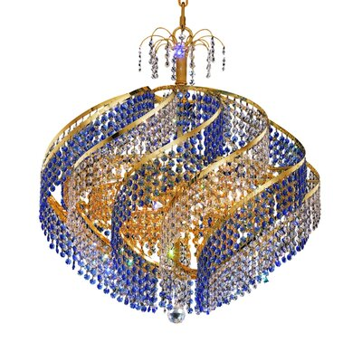 Mathilde 10-Light Crystal Chandelier Finish: Gold, Crystal Trim: Strass Swarovski