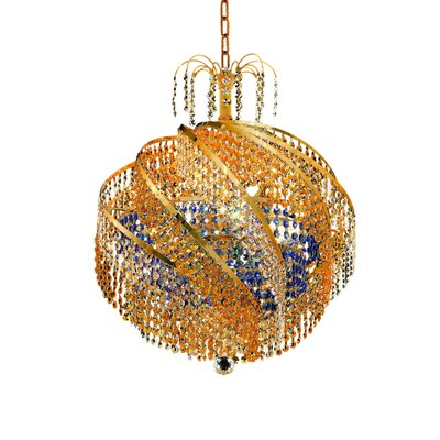 Mathilde Contemporary 10-Light Crystal Chandelier Finish: Gold, Crystal Trim: Strass Swarovski