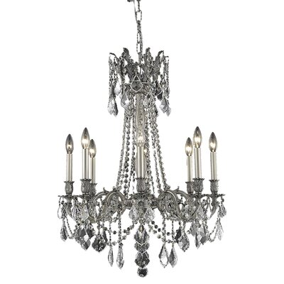 Utica 8-Light Candle-Style Chandelier Crystal Color / Crystal Trim: Golden Teak (Smoky) / Strass Swarovski