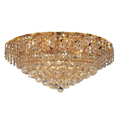 Belenus 18-Light Flush Mount Finish: Chrome, Crystal Grade: Strass Swarovski