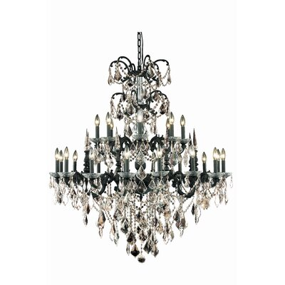 Cherie 24-Light Crystal Chandelier Crystal Color / Crystal Trim: Golden Teak (Smoky) / Spectra Swarovski