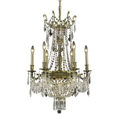 Ursula 9-Light Crystal Chandelier Finish: Antique Bronze, Crystal Trim: Elegant Cut