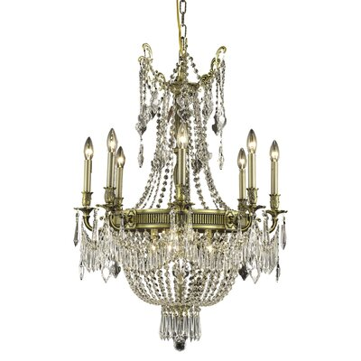 Ursula 12-Light Crystal Chandelier Finish: Antique Bronze, Crystal Trim: Elegant Cut
