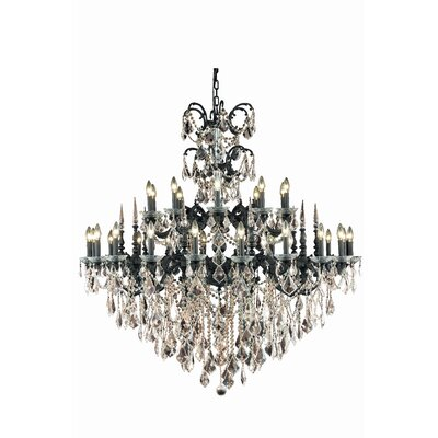 Cherie 30-Light Traditional Crystal Chandelier Crystal Color / Crystal Trim: Golden Teak (Smoky) / Royal Cut