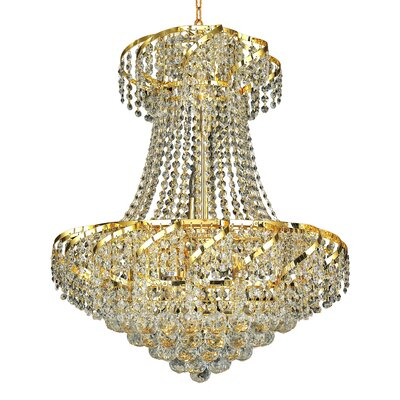 Belenus 11-Light Empire Chandelier Finish: Gold, Crystal Trim: Royal Cut