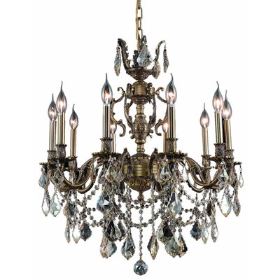 Canary 10-Light Crystal Chandelier Color / Crystal Color / Crystal Grade: Antique Bronze / Champagne / Royal Cut
