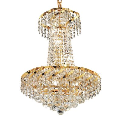 Belenus 6-Light Empire Chandelier Finish: Gold, Crystal Trim: Royal Cut