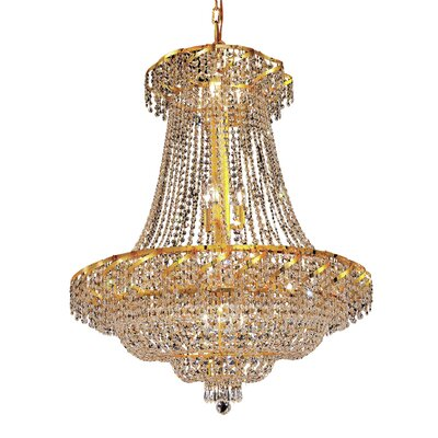 Antione 18-Light Empire Chandelier Finish: Gold, Crystal Trim: Elegant Cut
