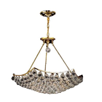 Kasha 12-Light Crystal Chandelier Finish: Gold, Crystal Trim: Spectra Swarovski