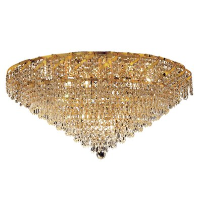 Antione 21-Light Flush Mount Finish: Chrome, Crystal Grade: Elegant Cut