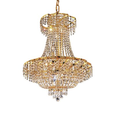 Antione 15-Light Contemporary Empire Chandelier Finish: Gold, Crystal Trim: Royal Cut