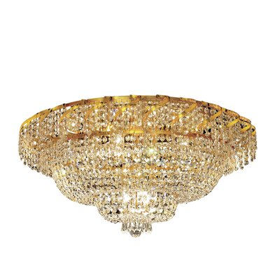 Antione 21-Light 16 Flush Mount Finish: Chrome, Crystal Grade: Royal Cut