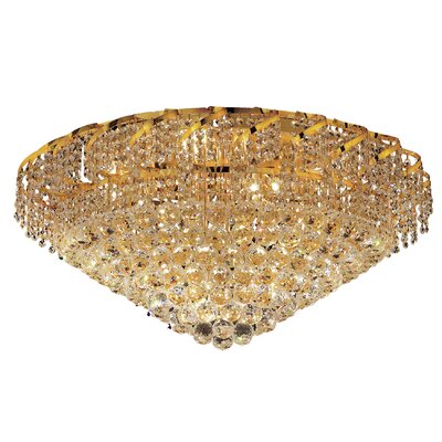 Belenus 21-Light Flush Mount Finish: Chrome, Crystal Grade: Elegant Cut