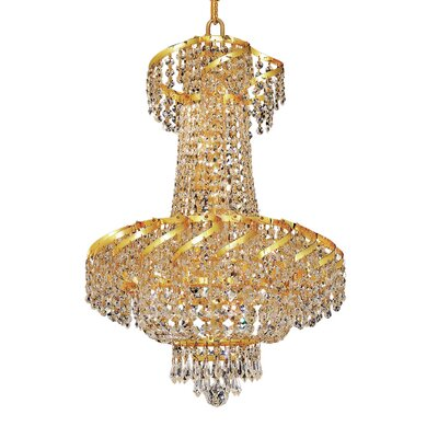 Antione 6-Light Empire Chandelier Finish: Chrome, Crystal Trim: Elegant Cut