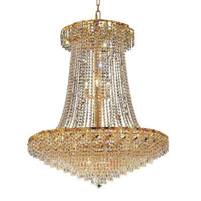 Antione 22-Light Contemporary Empire Chandelier Finish: Gold, Crystal Trim: Strass Swarovski
