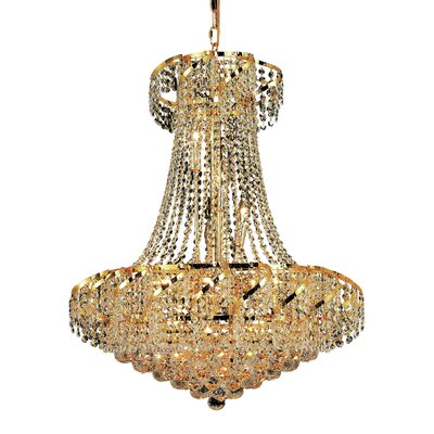 Antione 15-Light Empire Chandelier Finish: Gold, Crystal Trim: Royal Cut