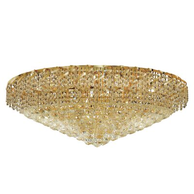 Belenus 28-Light Flush Mount Finish: Chrome, Crystal Grade: Strass Swarovski