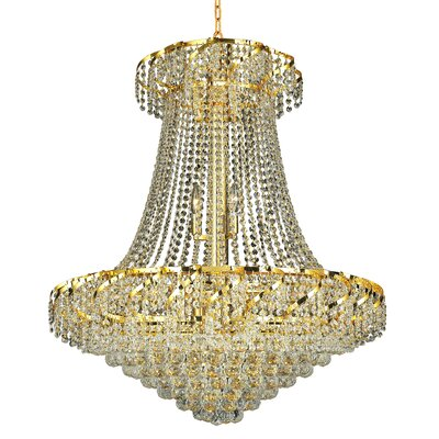 Antione 18-Light Chain Empire Chandelier Finish: Gold, Crystal Trim: Spectra Swarovski