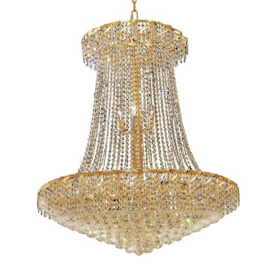 Belenus 22-Light Empire Chandelier Finish: Chrome, Crystal Trim: Elegant Cut