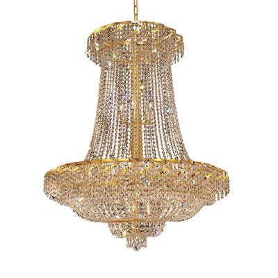 Antione 22-Light Empire Chandelier Finish: Gold, Crystal Trim: Elegant Cut