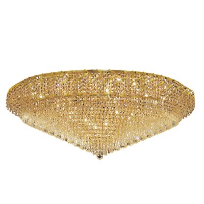 Antione 36-Light Flush Mount Finish: Chrome, Crystal Grade: Strass Swarovski
