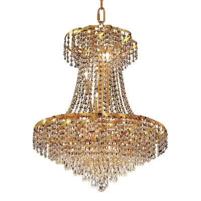 Antione 11-Light Contemporary Empire Chandelier Finish: Gold, Crystal Trim: Royal Cut