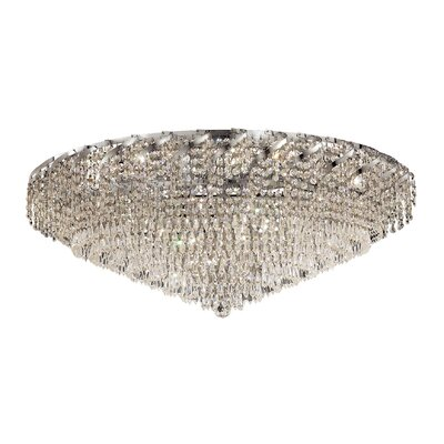 Antione 28-Light Flush Mount Finish: Chrome, Crystal Grade: Strass Swarovski