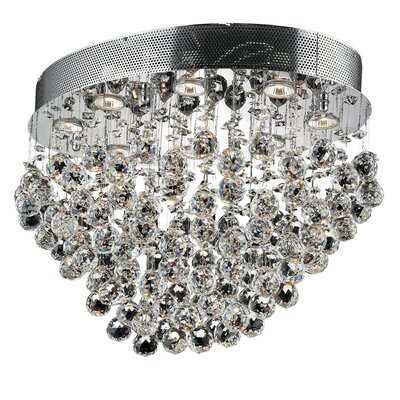 Galaxy 16 8-Light Semi Flush Mount Crystal Grade: Elegant Cut