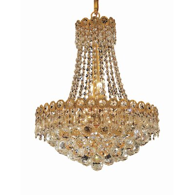 Lorna Glam 8-Light Empire Chandelier Finish: Gold, Crystal Trim: Elegant Cut