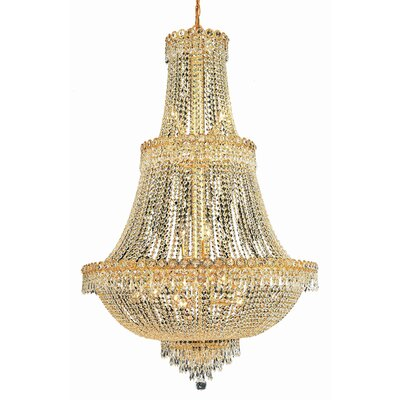 Century 17-Light Crystal Chandelier Finish: Gold, Crystal Trim: Spectra Swarovski