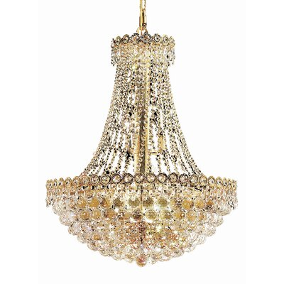 Lorna 12-Light Empire Chandelier Size / Finish / Crystal Trim: 20 / Gold / Elegant Cut