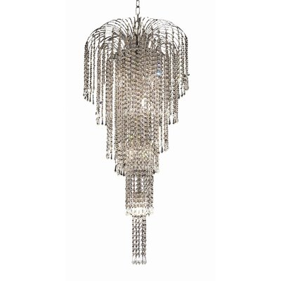 Westrem 9-Light Crystal Chandelier Finish: Chrome, Crystal Grade: Elegant-Cut