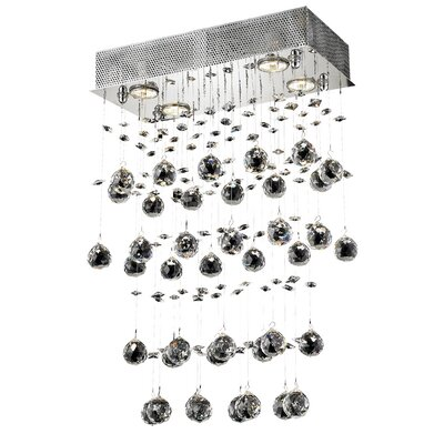 Deidamia Glam 4-Light Semi Flush Mount Crystal Grade: Spectra Swarovski