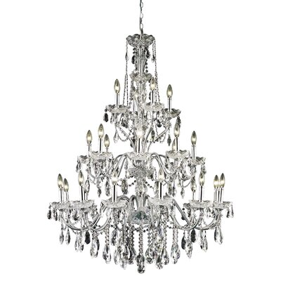 Thao 24-Light Chain Crystal Chandelier Finish: Chrome, Crystal Grade: Swarovski Elements