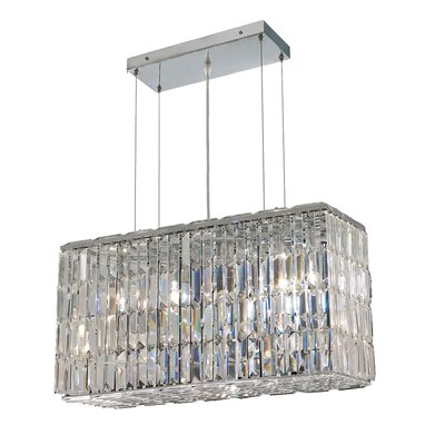 Langer 8-Light Kitchen Island Pendant Finish: Chrome, Crystal: Swarovski Strass