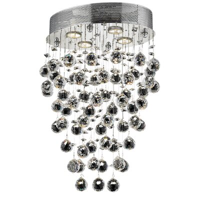 Galaxy 4-Light 16 Semi Flush Mount Crystal Grade: Royal Cut